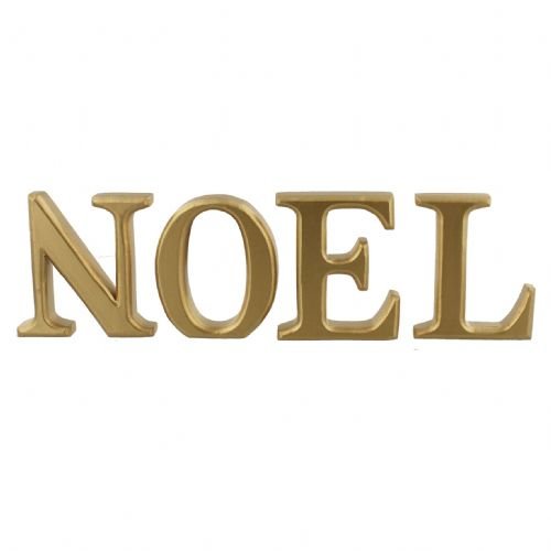 Wooden Gold Christmas Letters - Noel Christmas Wooden Home Decoration Word